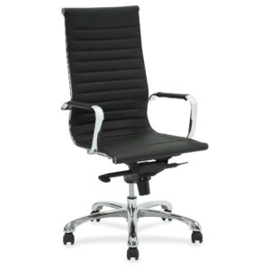 Lorell Modern Chair with Chrome Castor Base