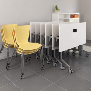 Nesting Training Tables and Stacking Chairs