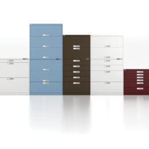 Metal Storage with Many Heights and Drawer Arrangements