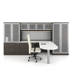 Private Office with Frosted Acrylic Door Fronts