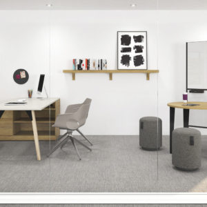 Open Concept Private Office with Collaborative Space