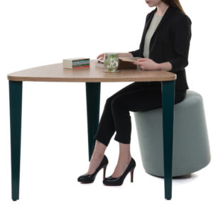 Meeting Table with Folded Metal Legs